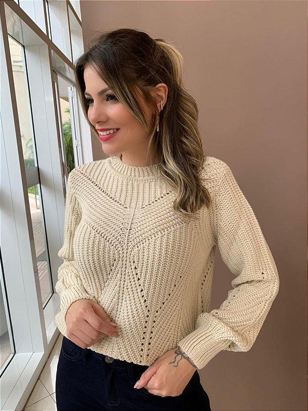 Blusa Tricot Camila Bege