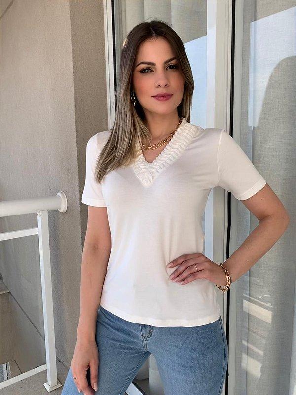 T-shirt Gola Corrente Fábia Off-White