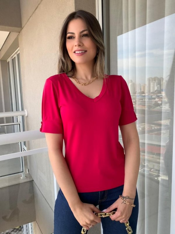 T-shirt Marlene Cereja