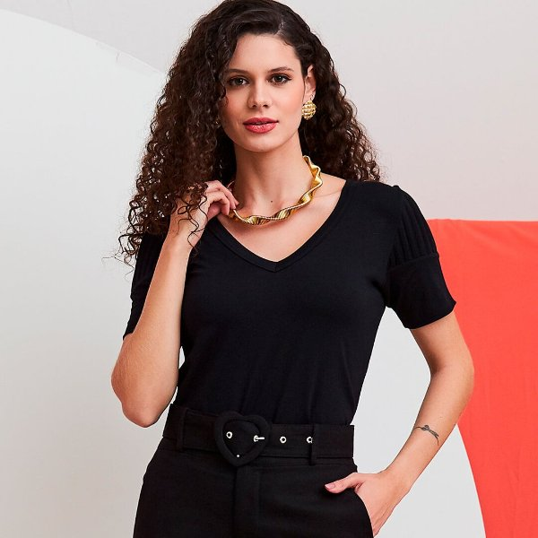 T-shirt Renata Preta