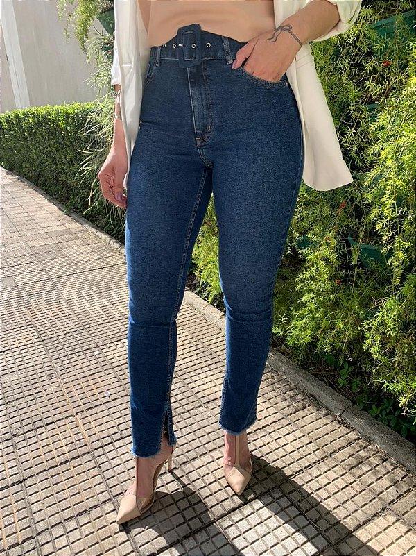 Calça Skinny com Cinto Alessandra