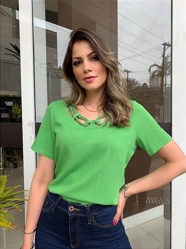 Blusa Viscolinho Maysa Verde