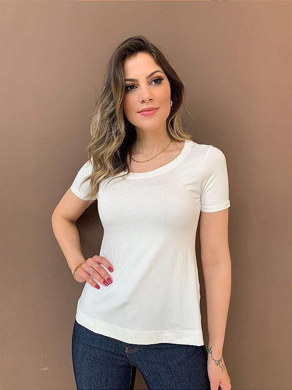 T-shirt Básica Anne Off-White