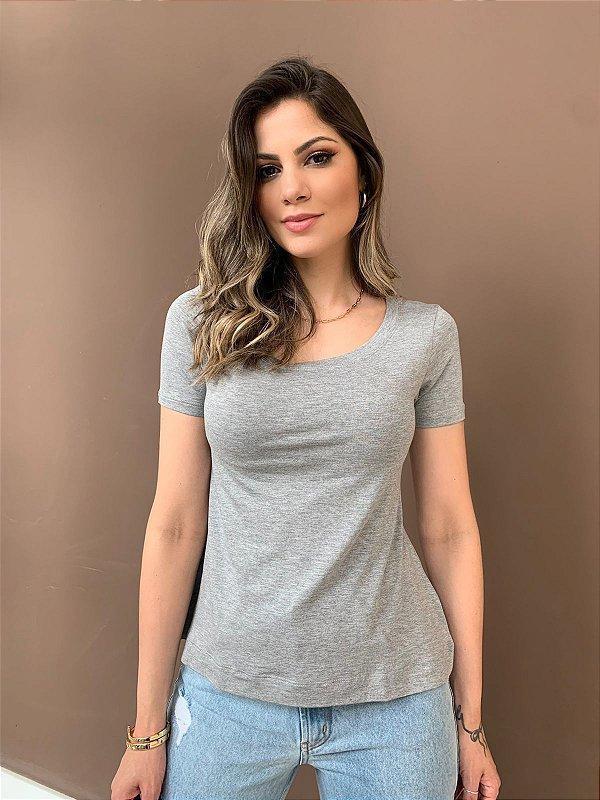 T-shirt Básica Anne Cinza