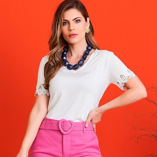 T-shirt Jéssica Off-White