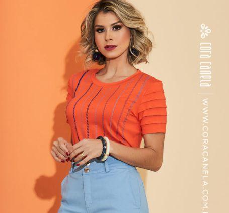 T-shirt Sofia Laranja