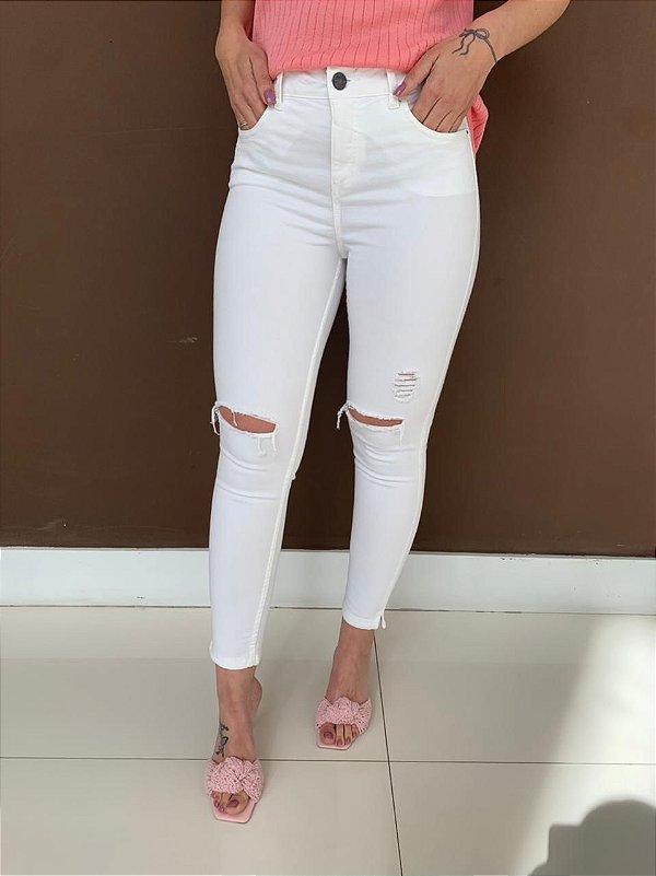 Calça Skinny Branca Talita