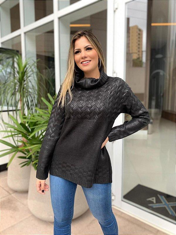 Blusa Tricô Resinado Sara