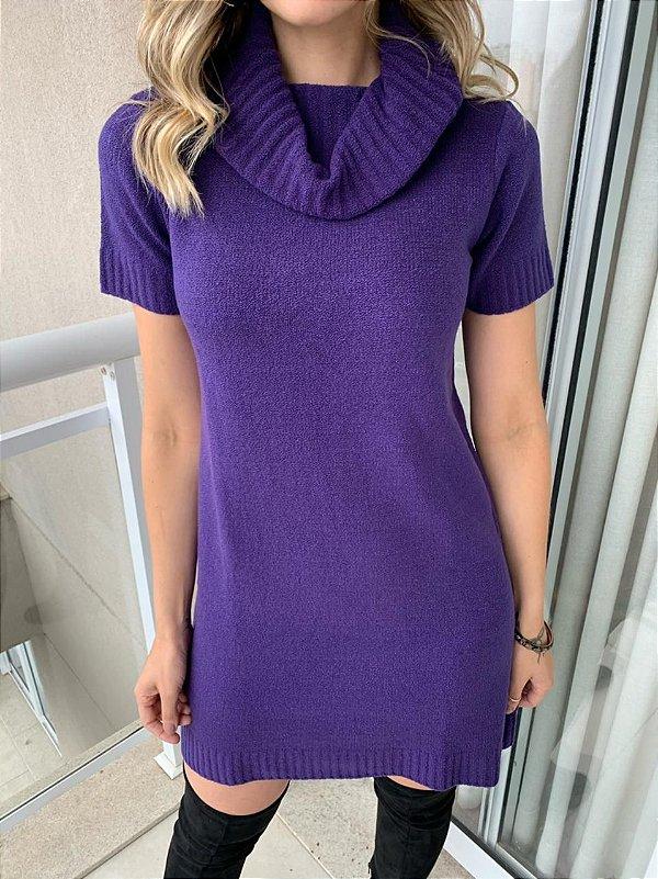 Vestido Tricô Color Mara Roxo