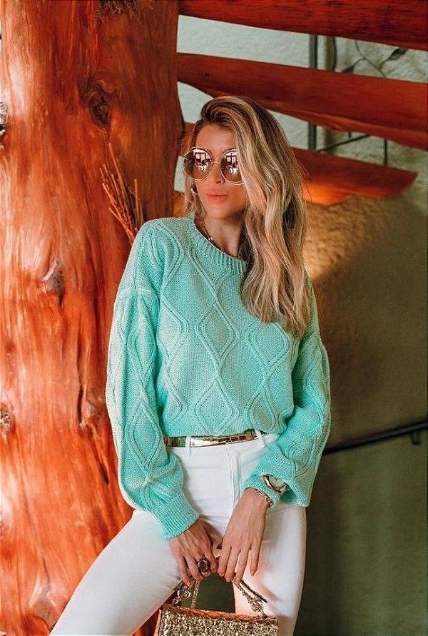 Blusa de Tricô Gabi Verde