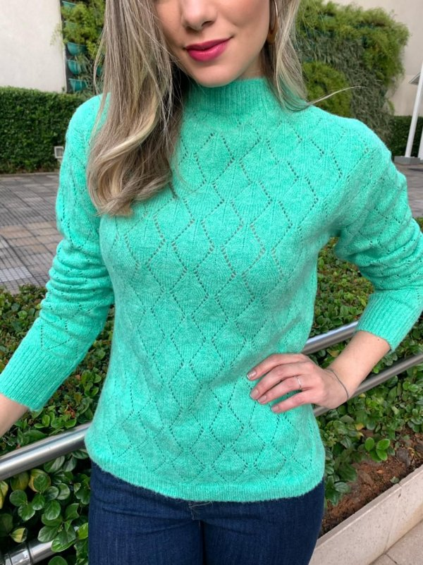 Blusa Tricô Samanta Verde
