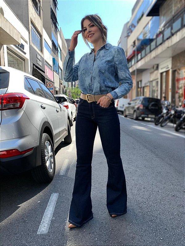 Calça Flare Jeans Ester