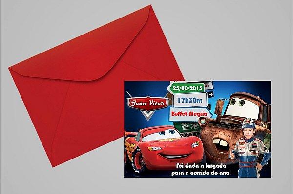 Convite 10x15 Carros da Disney 006 com foto