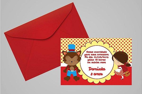 Convite 10x15 Chapeuzinho Vermelho 011
