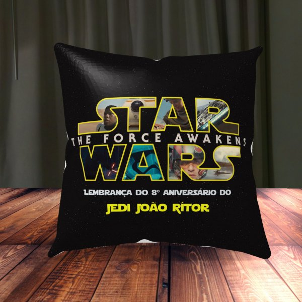 Almofada Personalizada para Festa Star Wars 2