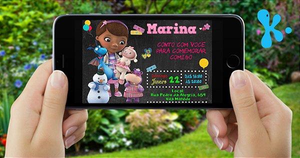 Convite digital personalizado Doutora Brinquedos 016