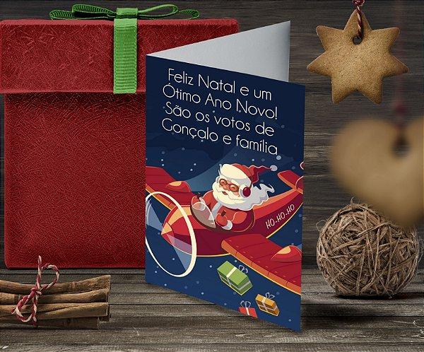 Cartão de Natal Personalizado Impresso 054
