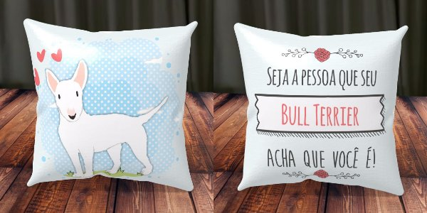 Almofada Personalizada - Cachorrinhos Bull Terrier 2