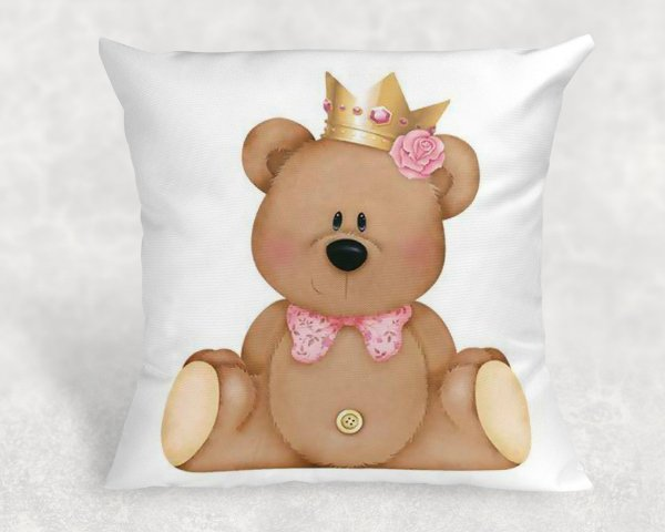 Almofada Personalizada para Festa Ursinho Reizinho 42