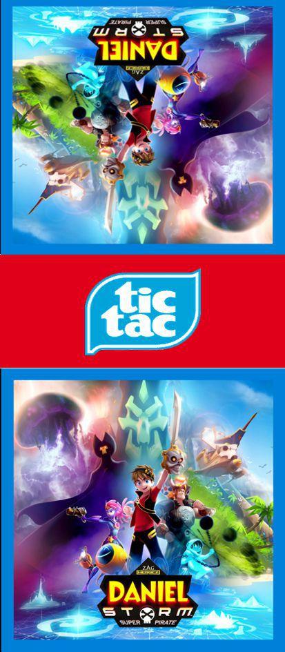 Adesivo personalizado para TicTac Zak Storm