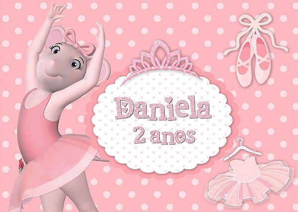 Painel TNT 1,40mx1m Angelina Bailarina  001