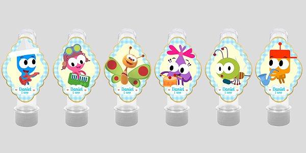 Embalagem com 12 apliques para Tubete Baby TV Choopies