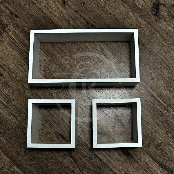 Trio de nichos decorativos - tamanhos variados