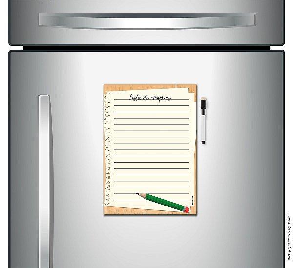 Lista de Compras Magnética - Caderno