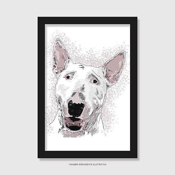 Quadro Bull Terrier Pintura Digital