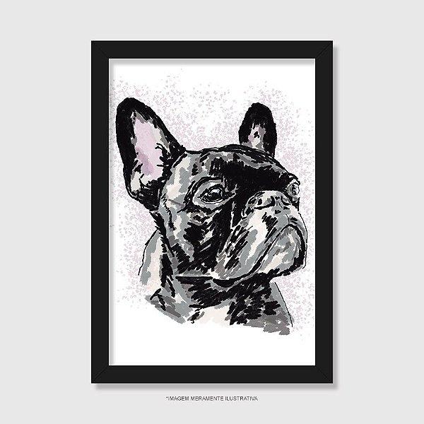 Quadro Bulldog Francês Pintura Digital