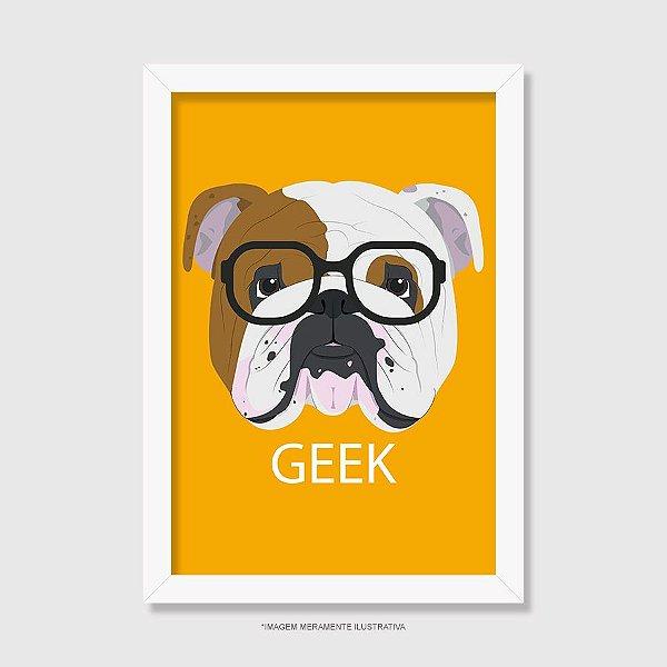 Quadro Bulldog Inglês Geek