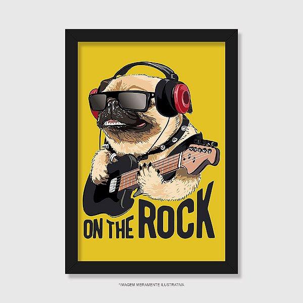 Quadro Pug On The Rock - Modelo 2