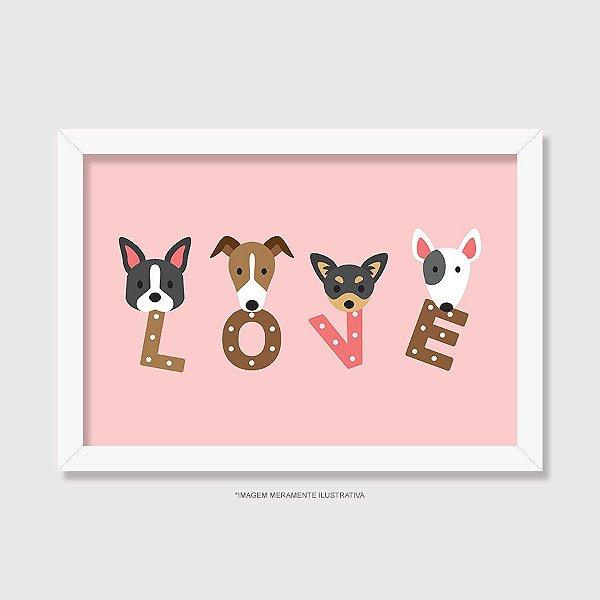 Quadro Cachorro Love - Modelo 2
