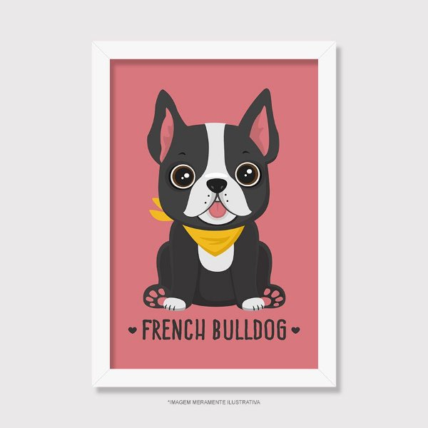 Quadro French Bulldog - Modelo 4