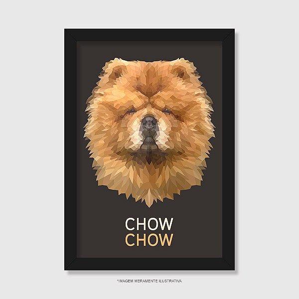 Quadro Chow Chow Mosaico