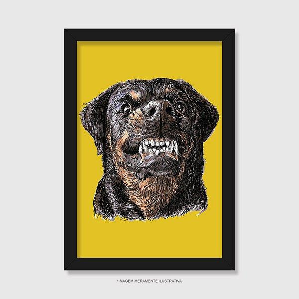 Quadro Cachorro Rottweiler Bravo - Modelo 2