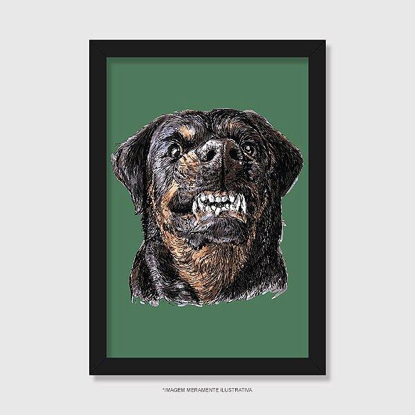 Quadro Cachorro Rottweiler Bravo - Modelo 3
