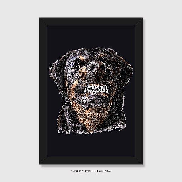 Quadro Cachorro Rottweiler Bravo - Modelo 4