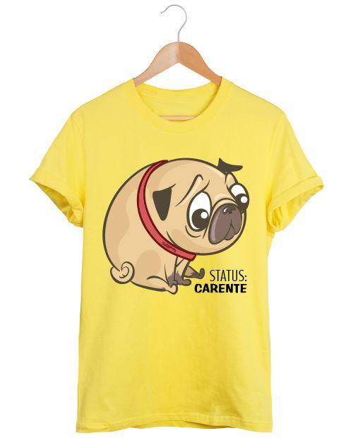 Camiseta Pug Status Carente