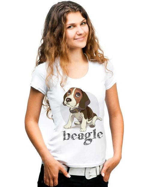 Camiseta Baby Look Beagle
