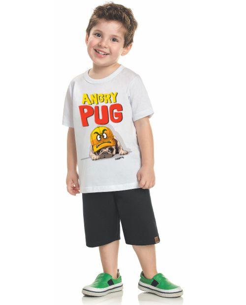 Camiseta Infantil Angry Pug