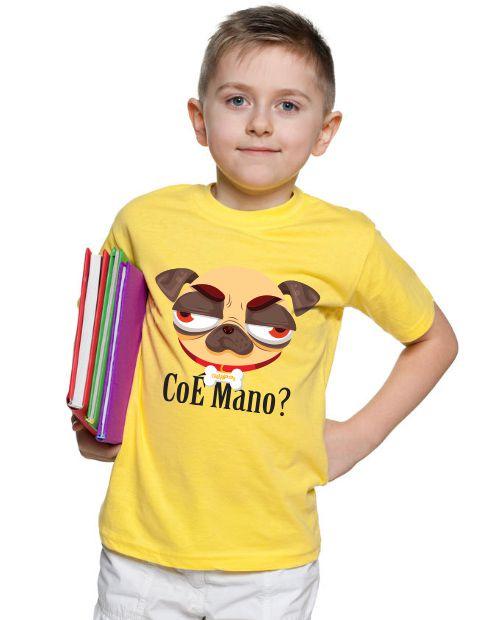 Camiseta Infantil Pug CoÉ Mano
