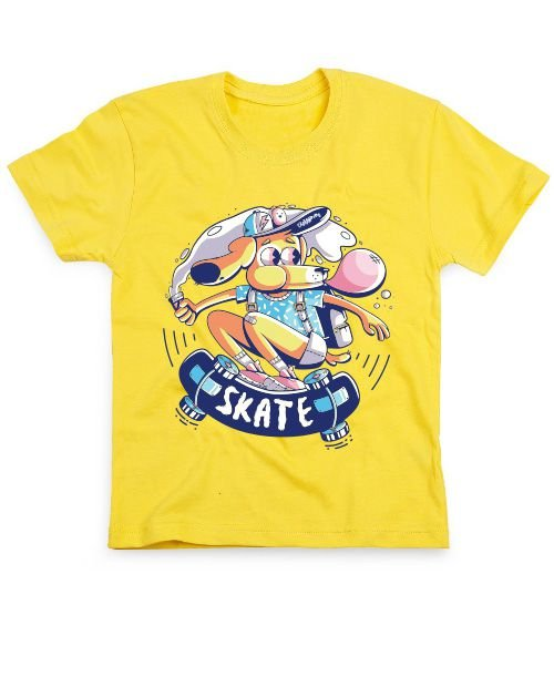 Camiseta Infantil Cachorro Skatista