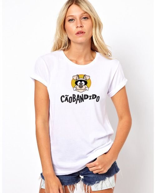 Camiseta Baby Look Cão Bandido