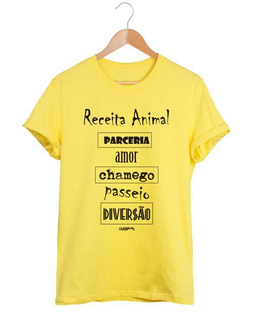 Camiseta Cachorro Receita Animal