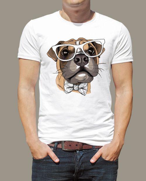 Camiseta Boxer de Óculos