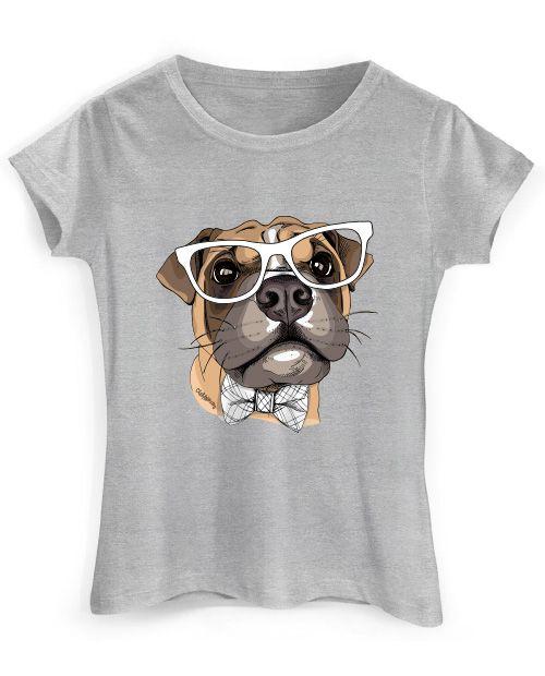 Camiseta Baby Look Boxer de Óculos