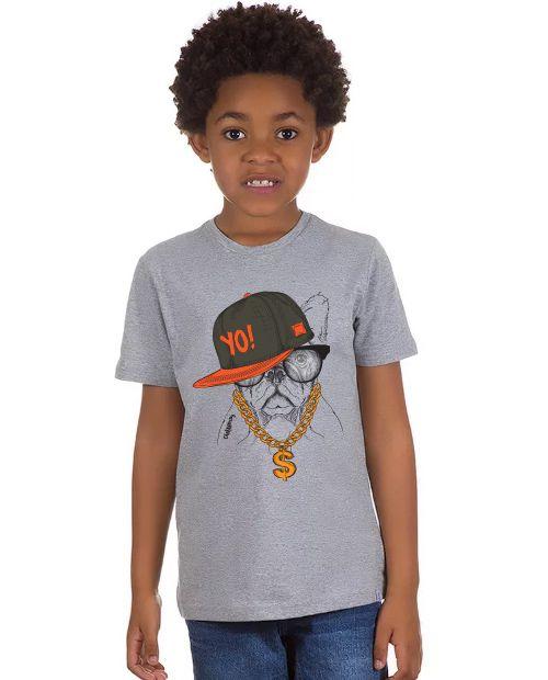 Camiseta Infantil Bulldog Francês Ostentação