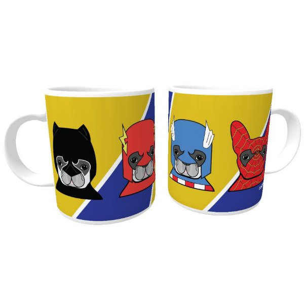 Caneca Cachorro Super Heróis