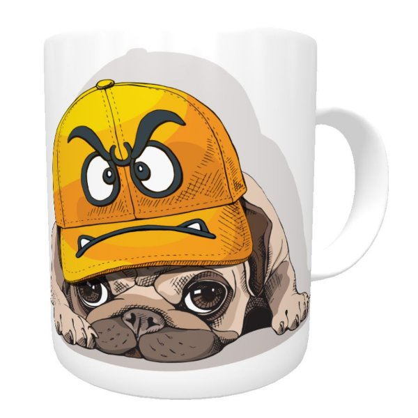 Caneca Angry Pug